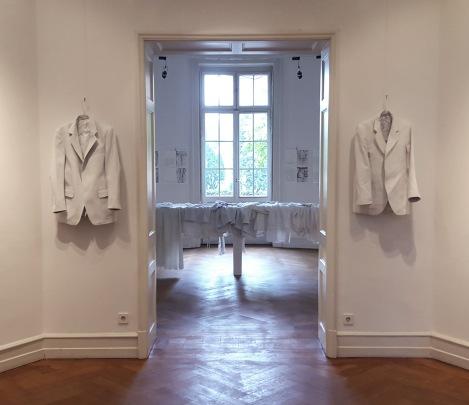 sandra heinz, erinnerung an H, foyer villa streccius landau 2015, ausschnitt